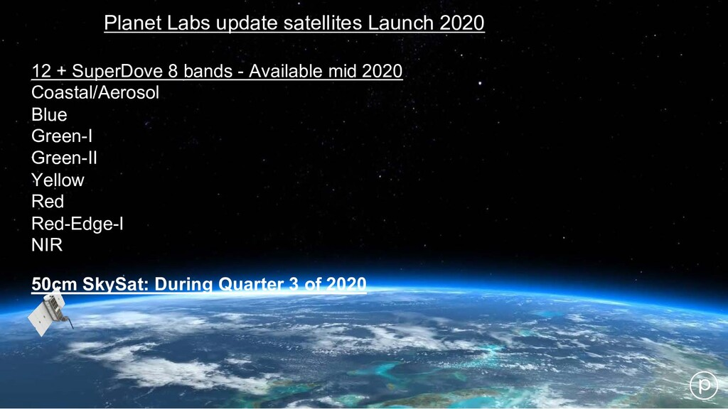 Planet Labs update satellites Launch 2020 12 + ...