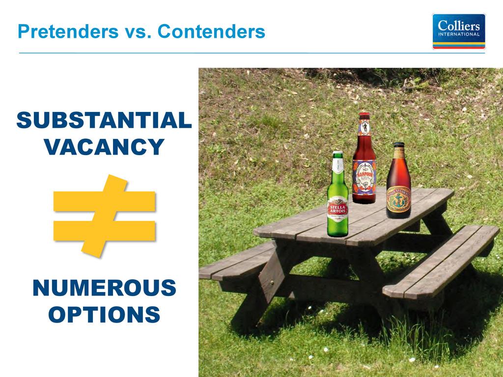 Pretenders vs. Contenders SUBSTANTIAL VACANCY N...
