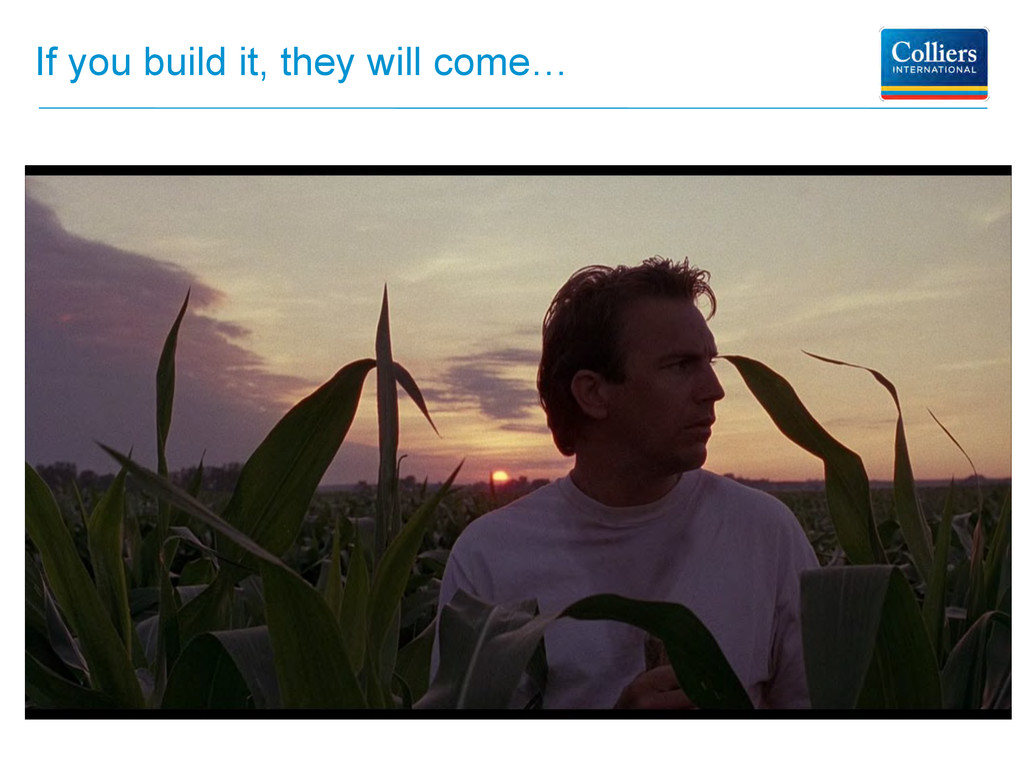 If you build it, they will come…