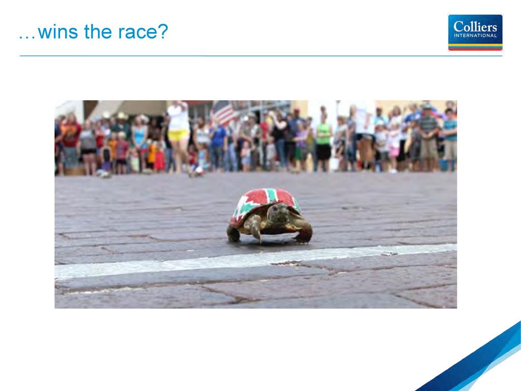 …wins the race?