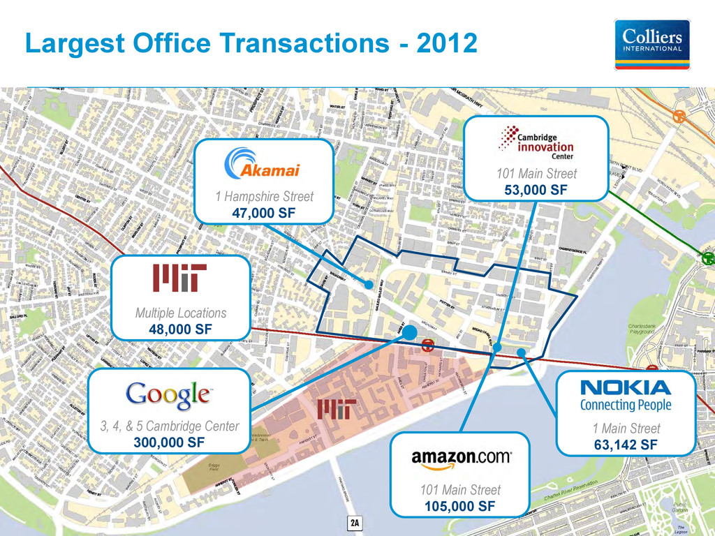 Largest Office Transactions - 2012 Multiple Loc...