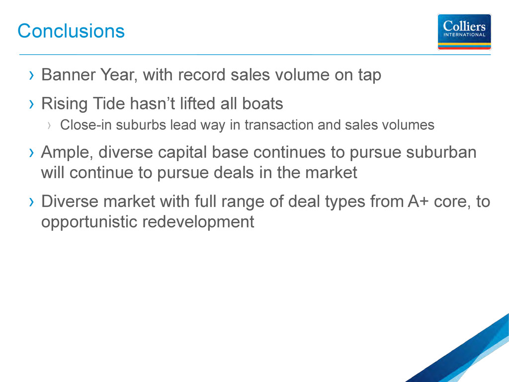 Conclusions › Banner Year, with record sales vo...