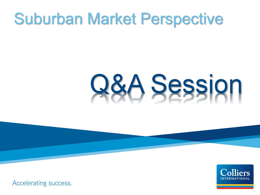 Suburban Market Perspective Q&A Session