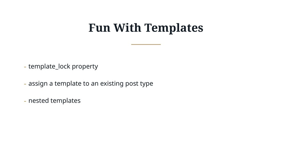 Fun With Templates - template_lock property - a...