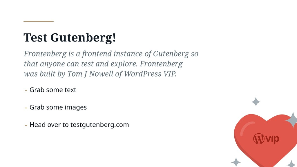 Test Gutenberg! Frontenberg is a frontend insta...