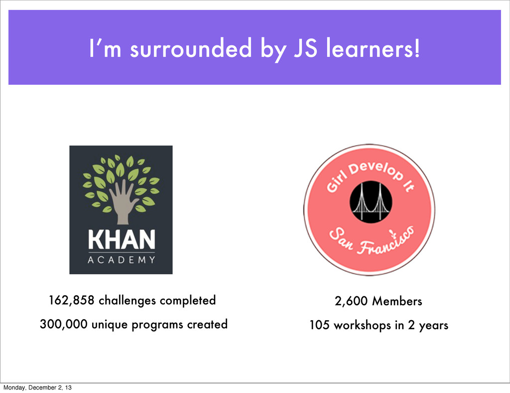 I'm surrounded by JS learners! 162,858 challeng...