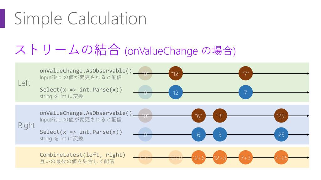 ストリームの結合 (onValueChange の場合) Left Simple Calcul...
