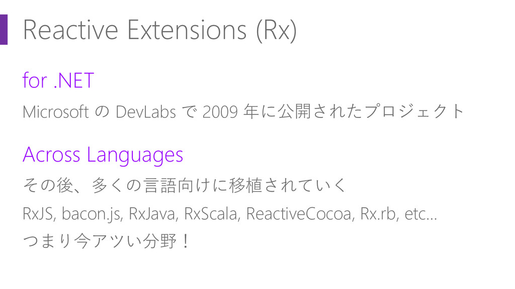 Reactive Extensions (Rx) for .NET Microsoft の D...