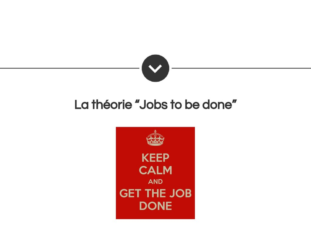 "La théorie ""Jobs to be done"""