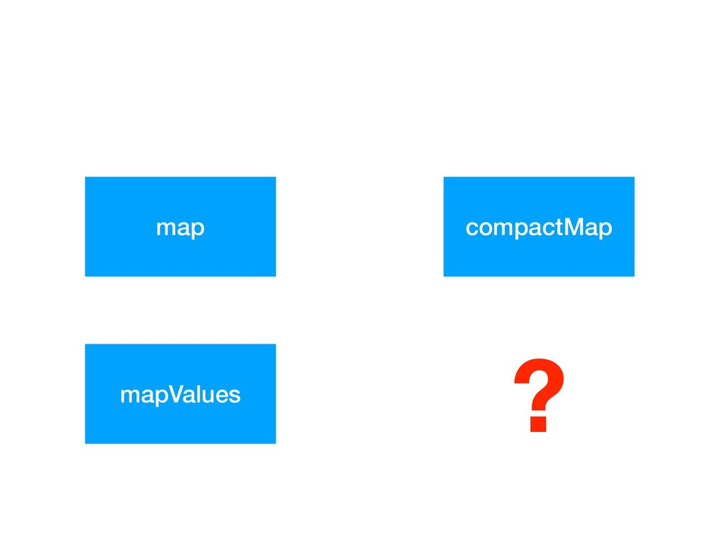map compactMap mapValues ?
