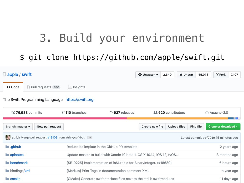 3. Build your environment $ git clone https://g...