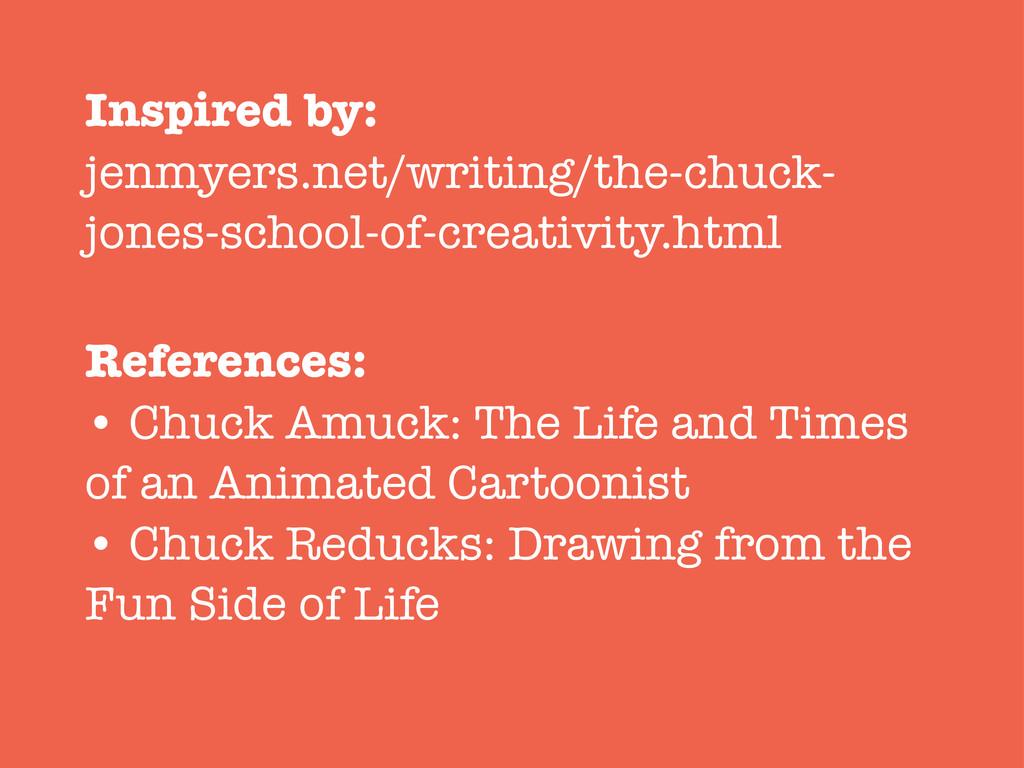 Inspired by: jenmyers.net/writing/the-chuck- jo...
