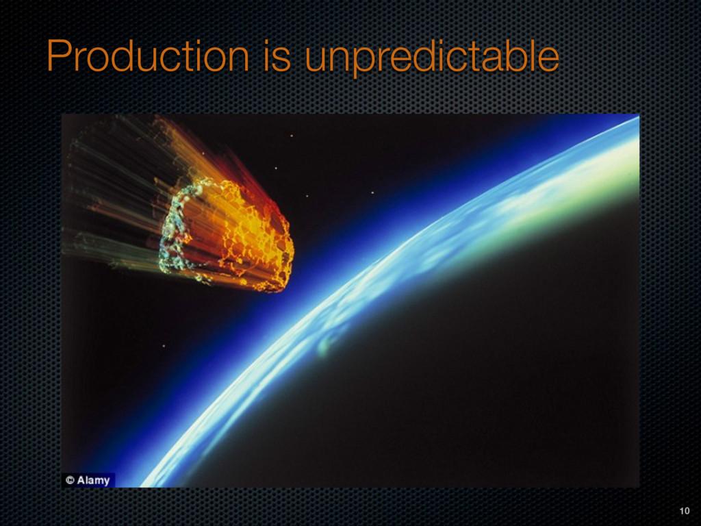 Production is unpredictable 10