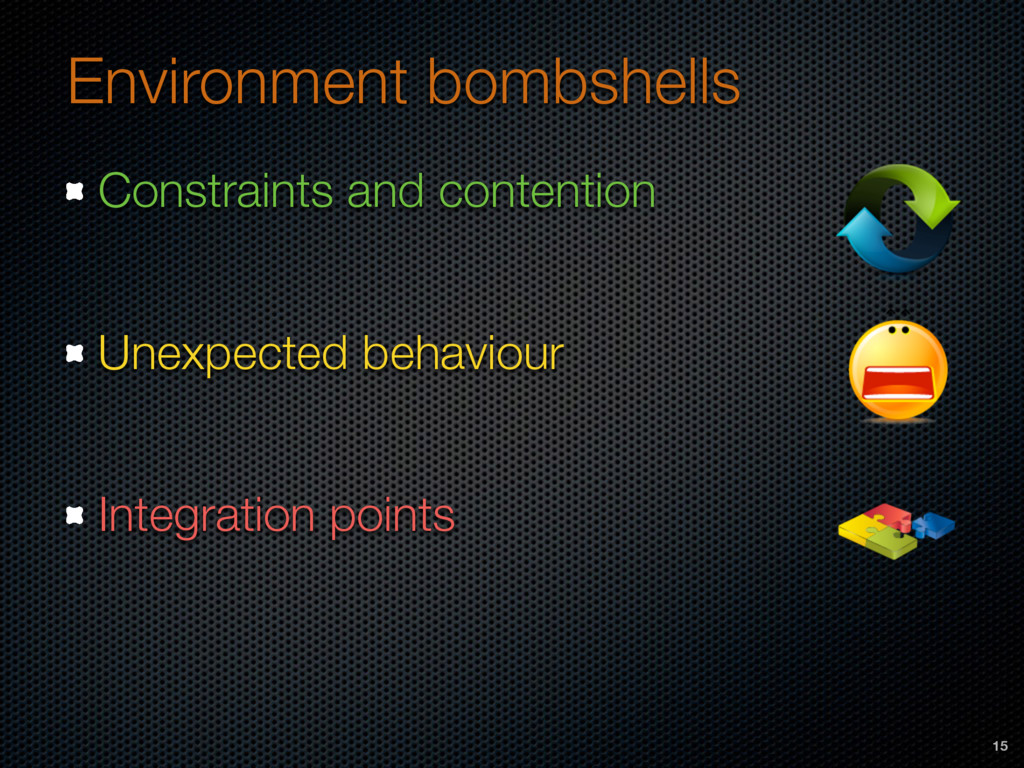 Environment bombshells Constraints and contenti...