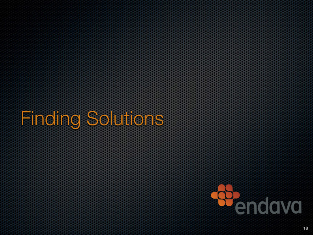 Finding Solutions 18