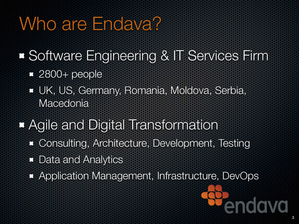 Who are Endava? Software Engineering & IT Servi...