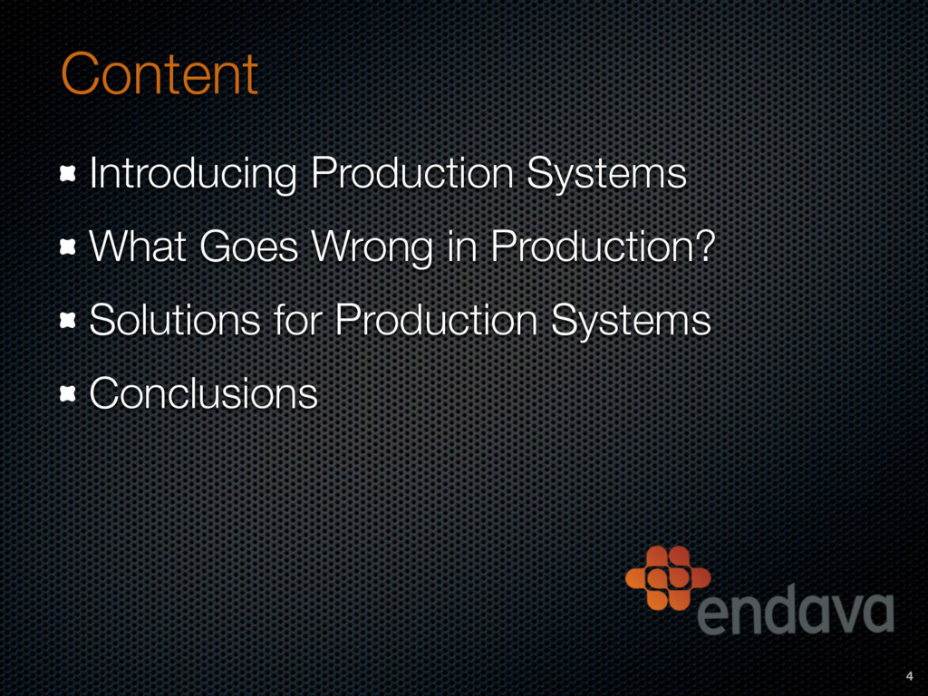 Content Introducing Production Systems What Goe...