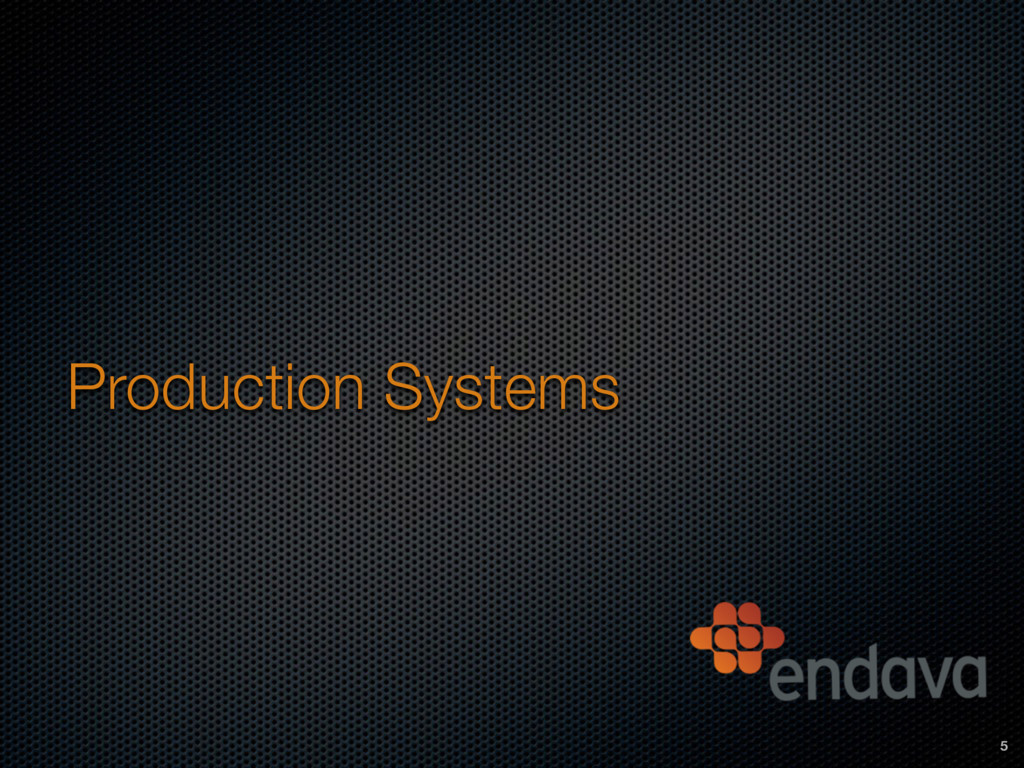 Production Systems 5