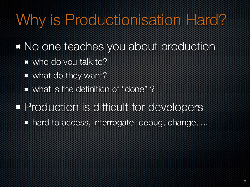 Why is Productionisation Hard? No one teaches y...