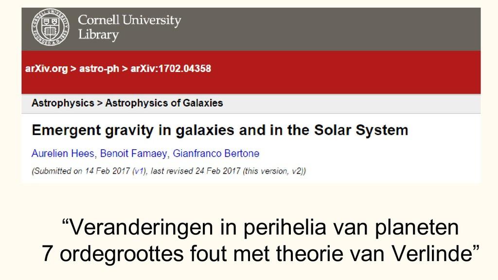 """""""Veranderingen in perihelia van planeten 7 orde..."""