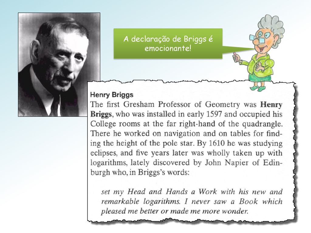 A declaração de Briggs é emocionante!