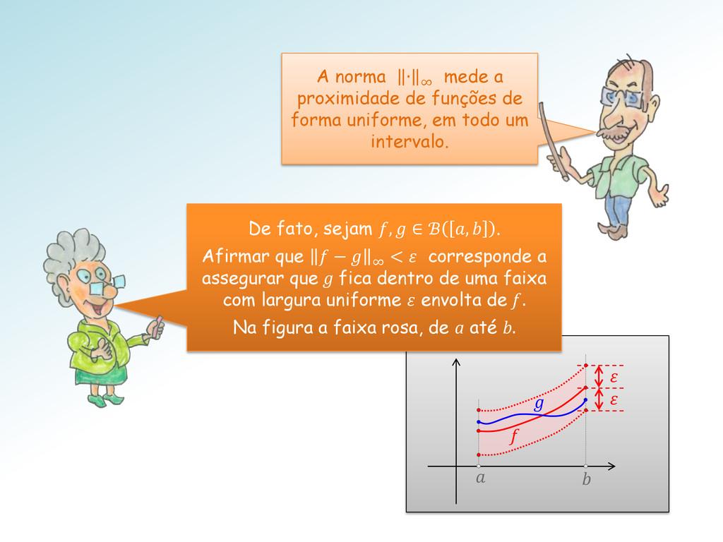 f    A norma ∙ ∞ mede a proximidade de funçõe...