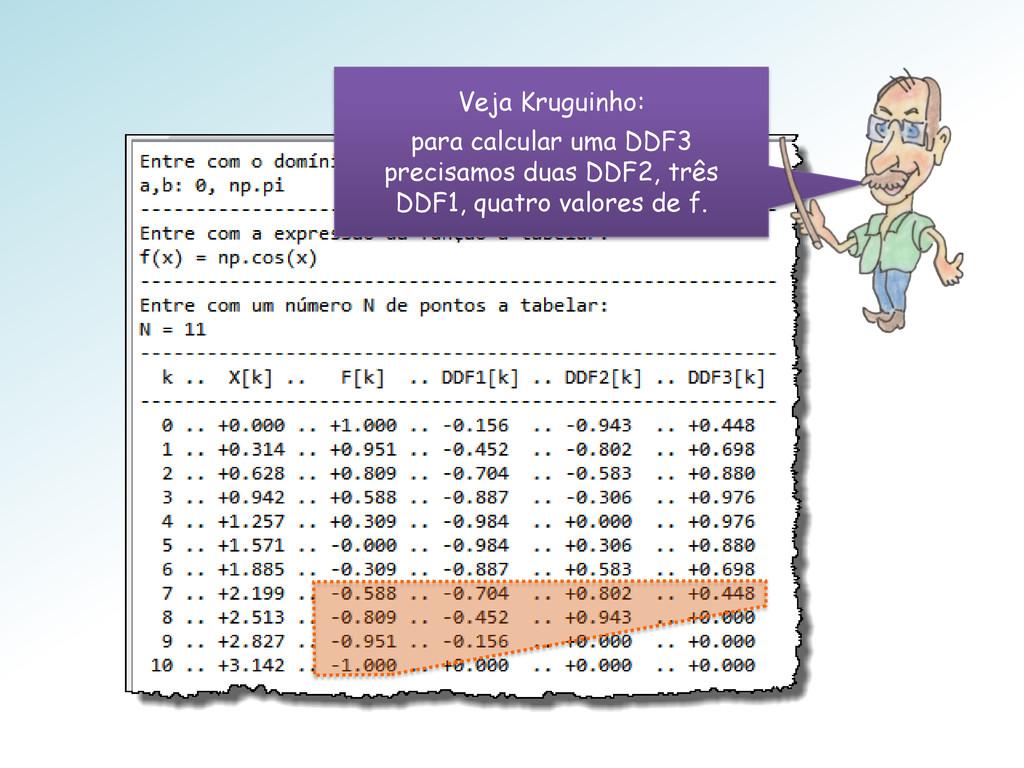 Veja Kruguinho: para calcular uma DDF3 precisam...