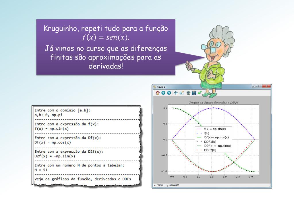 Kruguinho, repeti tudo para a função   = (). Já...