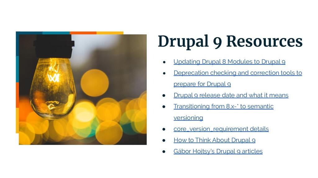 | 16 Drupal 9 Resources ● Updating Drupal 8 Mod...