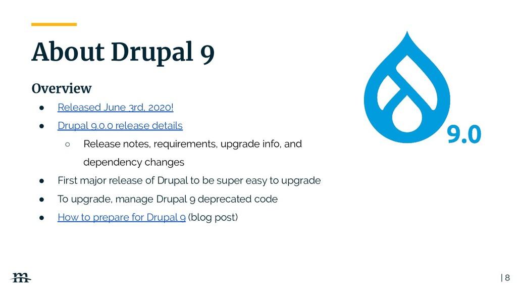 ● Released June 3rd, 2020! ● Drupal 9.0.0 relea...