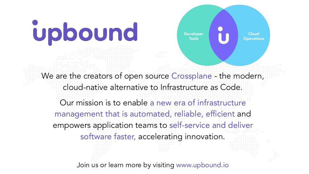 We are the creators of open source Crossplane -...