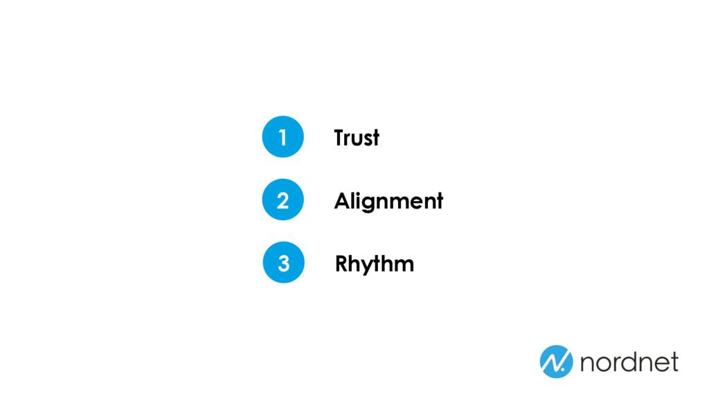 Trust 1 Alignment 2 Rhythm 3