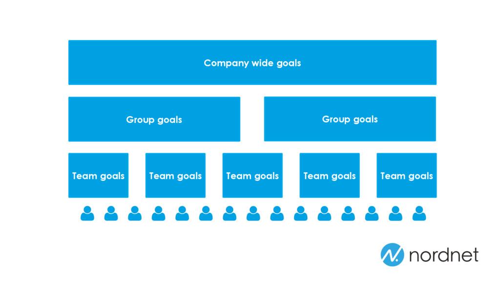 Company wide goals Group goals Team goals Team ...