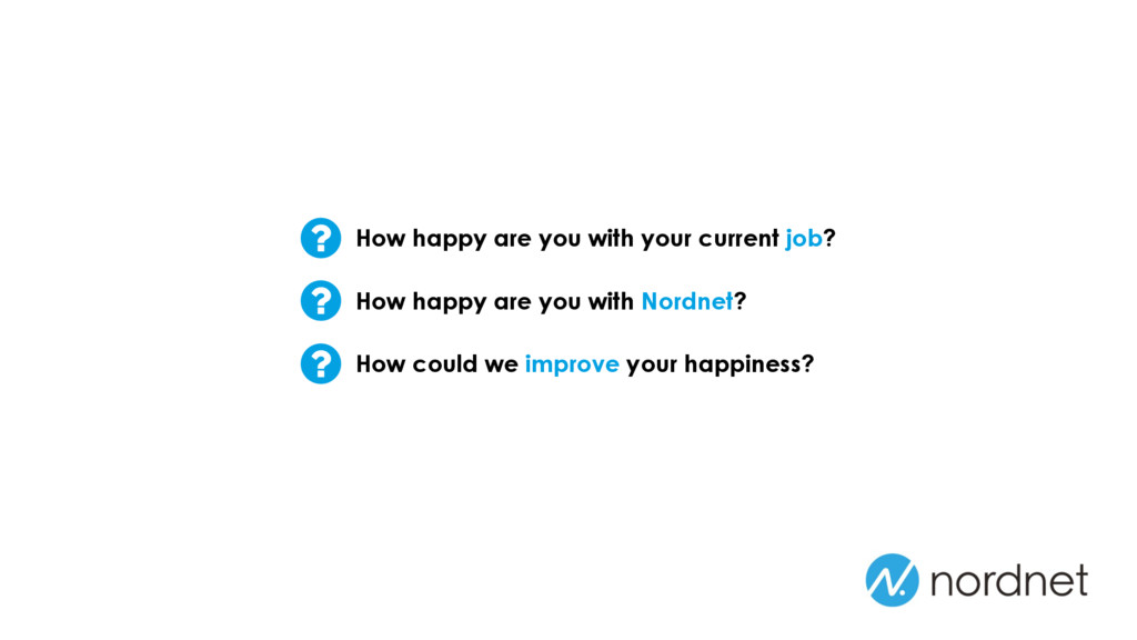 How happy are you with your current job? How ha...