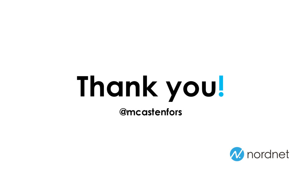 Thank you! @mcastenfors
