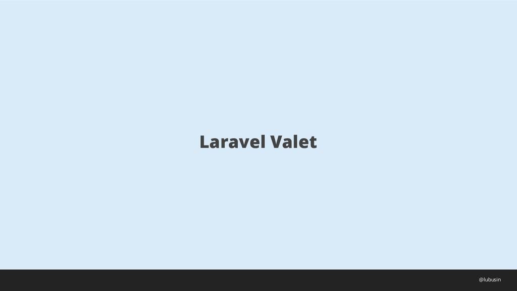 Laravel Valet @lubusin