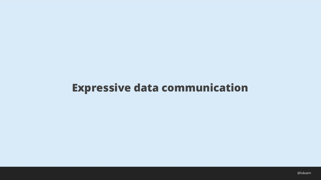 Expressive data communication @lubusin