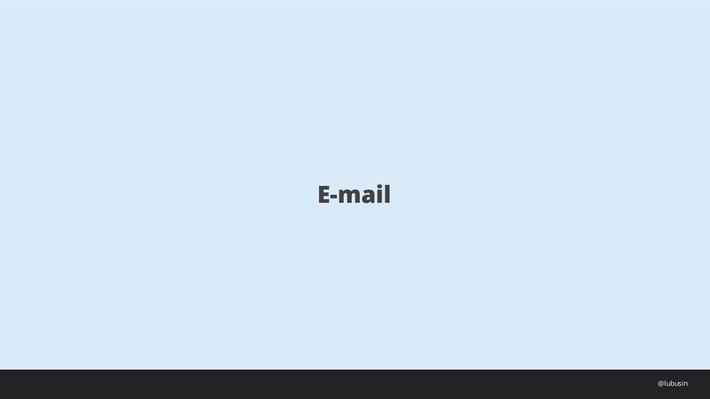 E-mail @lubusin