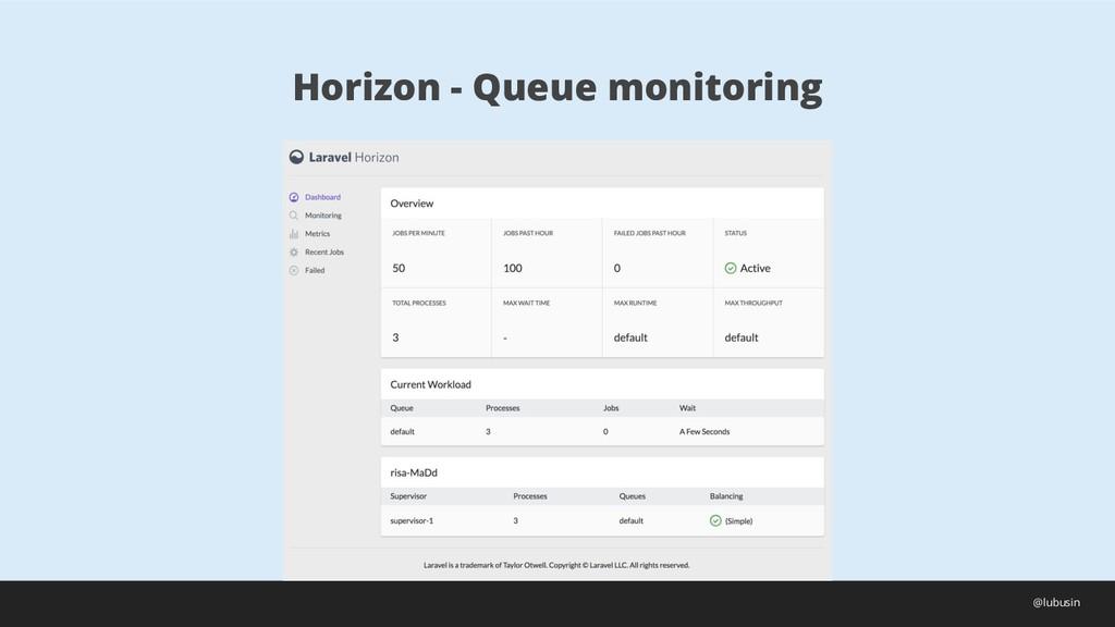 Horizon - Queue monitoring @lubusin