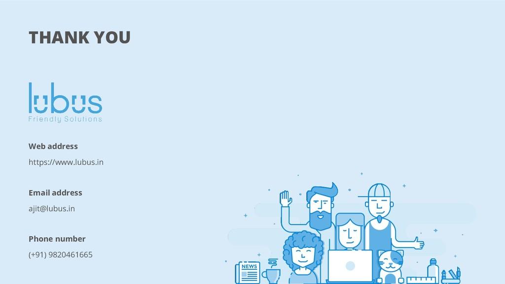 THANK YOU Web address https://www.lubus.in Emai...