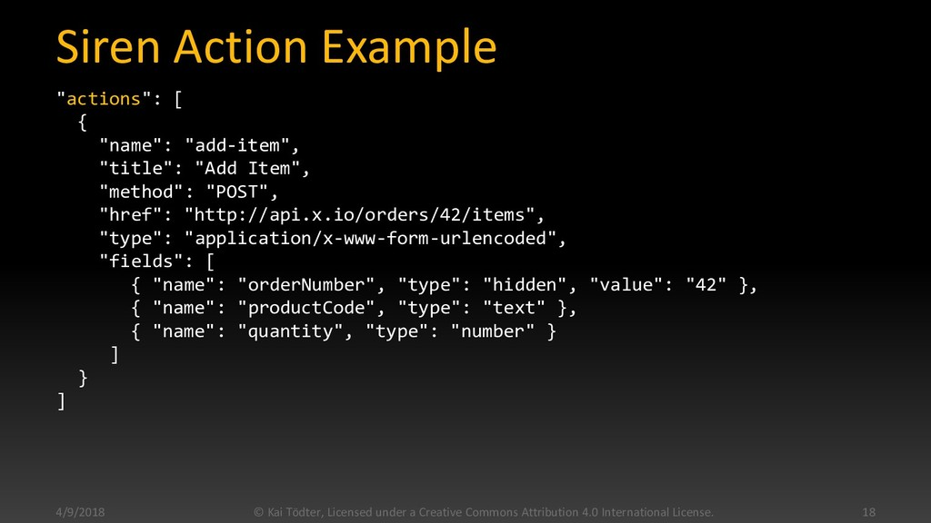 """Siren Action Example """"actions"""": [ { """"name"""": """"ad..."""