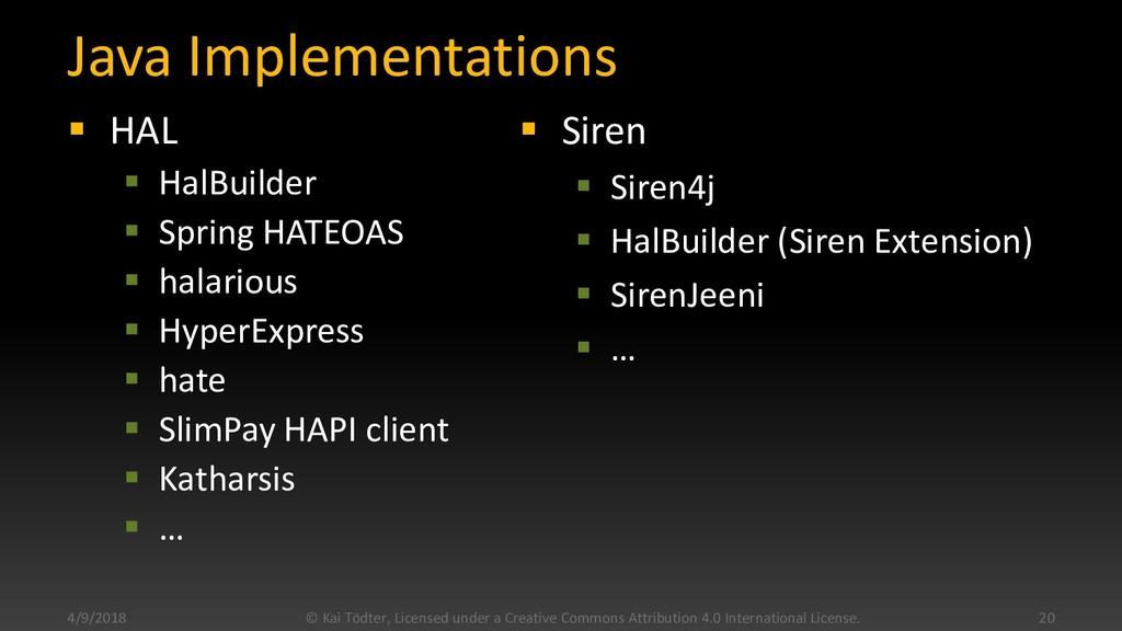 Java Implementations  HAL  HalBuilder  Sprin...