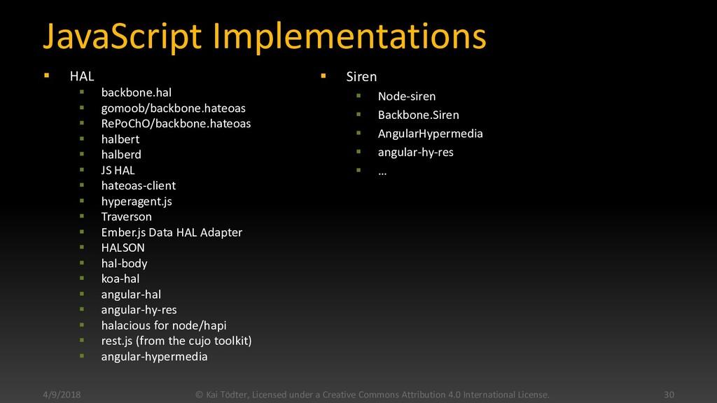 JavaScript Implementations  HAL  backbone.hal...
