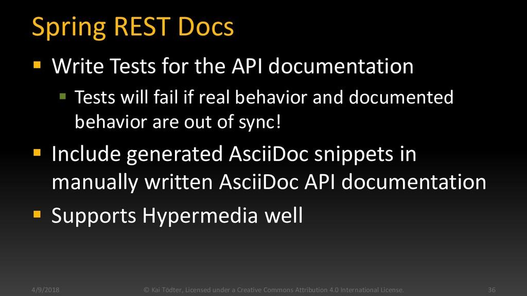 Spring REST Docs  Write Tests for the API docu...