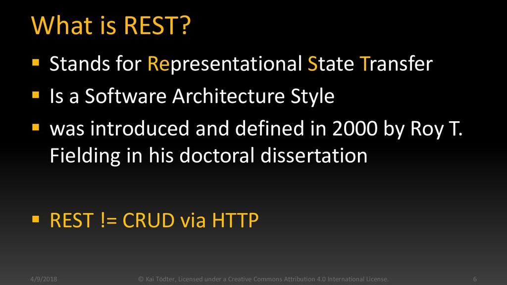 What is REST?  Stands for Representational Sta...