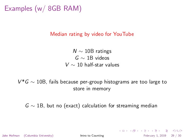 Examples (w/ 8GB RAM) Median rating by video fo...