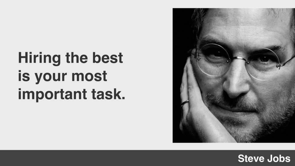 Hiring the best is your most important task. St...