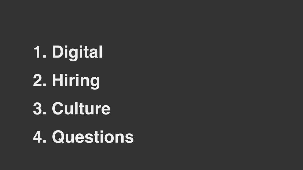 2. Hiring 3. Culture 1. Digital 4. Questions