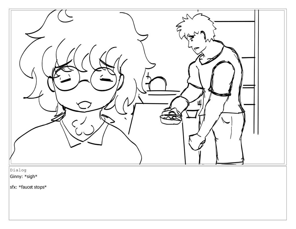 Dialog Ginny: *sigh* sfx: *faucet stops*
