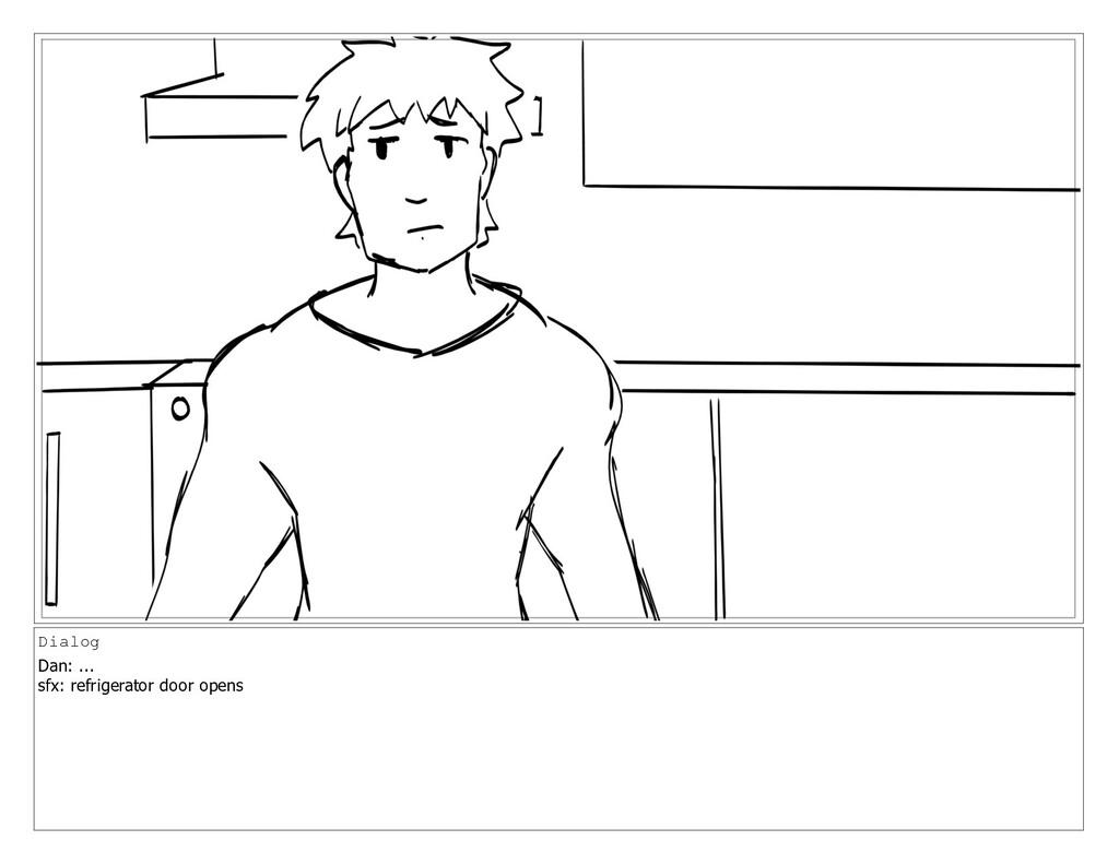 Dialog Dan: ... sfx: refrigerator door opens